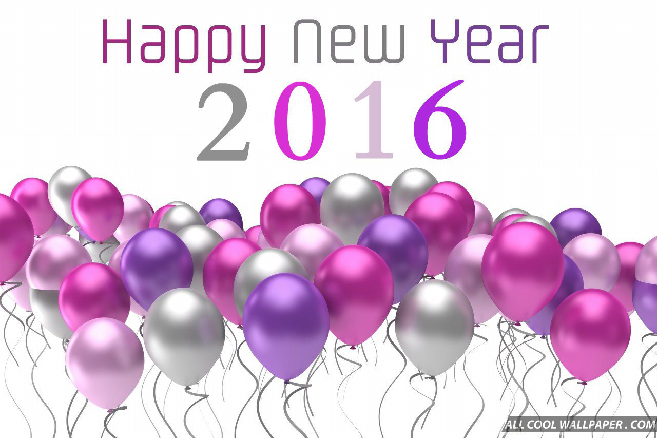 purple happy new year 2016